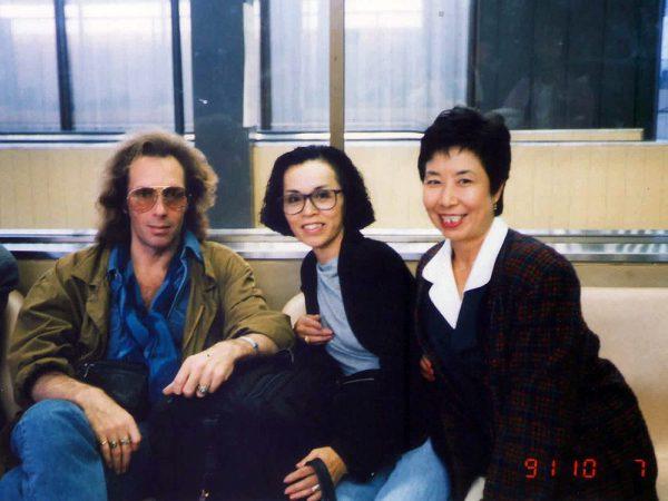 世界を魅了したダンサー、ジョルジュ・トンとの偶然出会いの一枚。 成田空港にて。